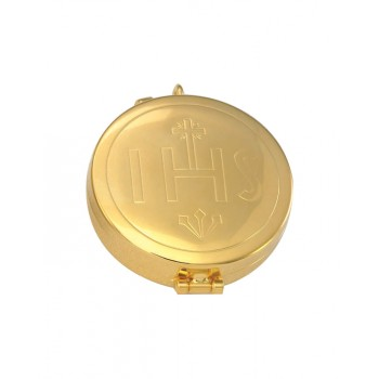 Gold Plated Pyx with IHS Design
