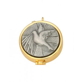 Gold Plated Pyx with Holy Spirit Symbol