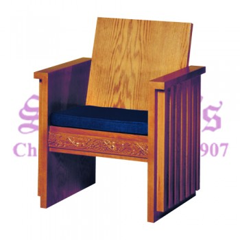 Celebrant with Plain Wood Back