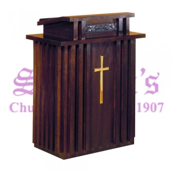 Pulpit with Slot Pattern and Extended Shelf