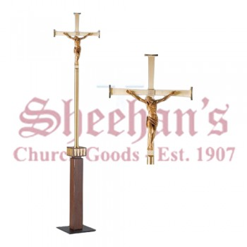 Processional Cross with Sorrowful Christ Corpus