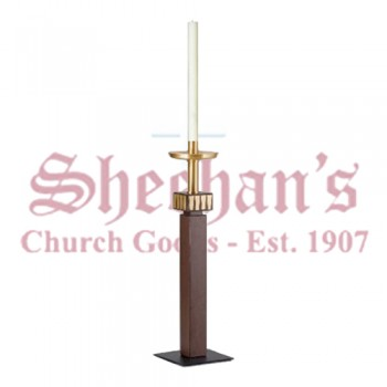 Paschal Candlestick with Satin Accents