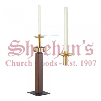 Processional Candlesticks with Satin Accents - Pair