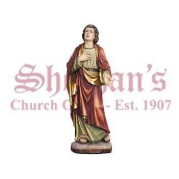 St. John Under The Cross Wood Carve Statue