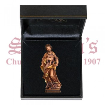 Saint Joseph the Worker Wood Carve with Case