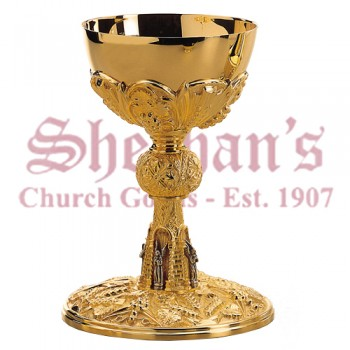 Neogothic Brass goldplated Chalices