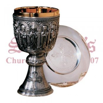 Romanesque Design Chalice and Scale Paten