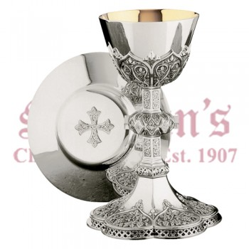 Silver Gothic Chalice with Filagree