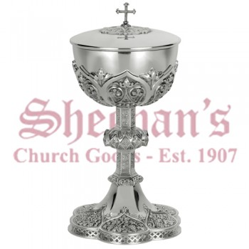 Silver Gothic Ciborium with Filagree