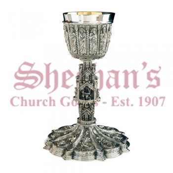 Gothic Chalice with Scale Paten