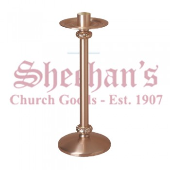 Low Profile Paschal Candlestick with Ornate Node