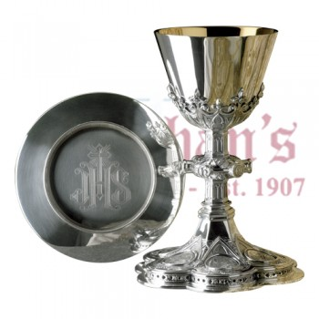 Chalice with Gothic Influence and Paten