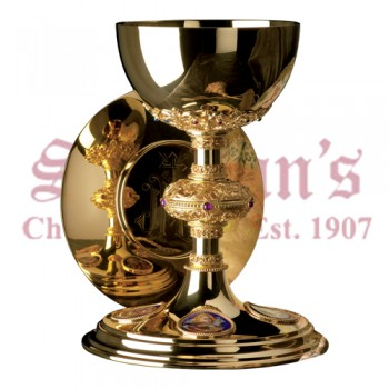 Chalice with Filagree Stem and Scale Paten