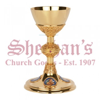 Chalice with Four Evangelist and Paten