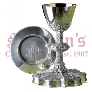 Chalice with Deep Relief and Scale Paten