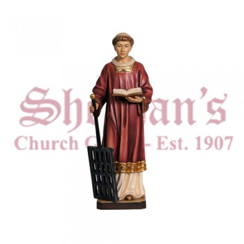 St. Lawrence Wood Carve Statue