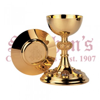 Chalice with Oval Medallions and Dish Paten