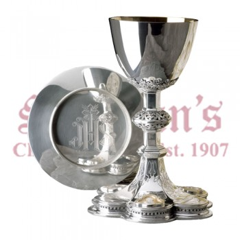 Silver Chalice with Scale Paten