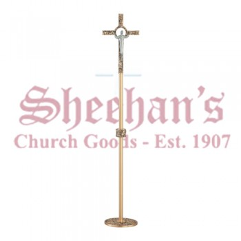 Processional Crucifix in Statuary Bronze Finish