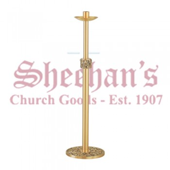 Floor Paschal Candle Holder in Statuary Bronze Finish