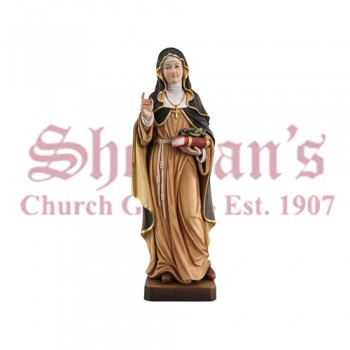 St. Theresa From Avila With Crown Of Thorns Wood Carve Statue
