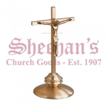 Altar Crucifix in Satin Bronze Finish