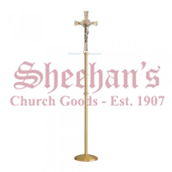 Processional Crucifix in Satin Bronze Finish