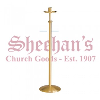 Floor Paschal Candle Holder in Satin Bronze Finish