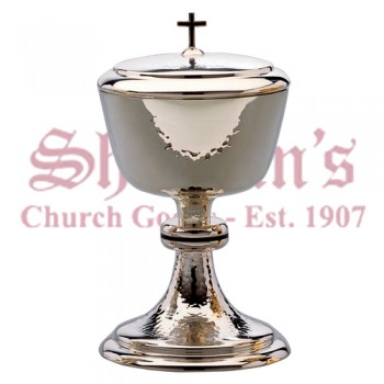 Traditional style hand hammered Ciborium