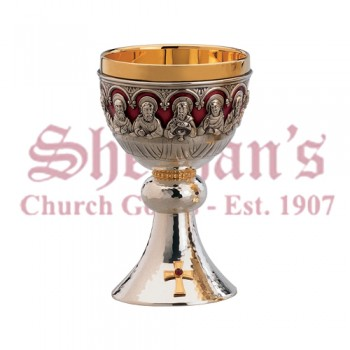 Chalice with Last Supper and Bowl Paten