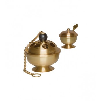 Satin Finish Censer and Boat