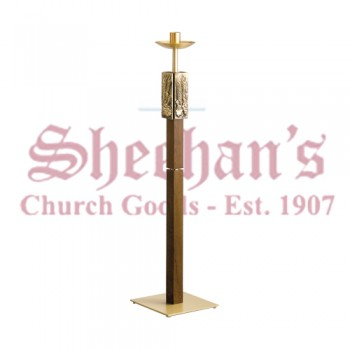Fixed / Processional Paschal Candleholder in Antique Bronze Finish