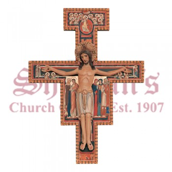 Carved San Damiano Cross from Demetz Art Studios