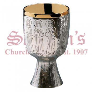 Hand engraved image and Twelve Apostles Chalice