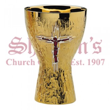 Raised Cross Motif Chalice and Bowl Paten