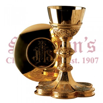 Life of Christ Chalice and Scale Paten