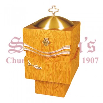 Baptismal Font with Holy Spirit Design