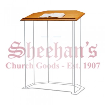 Acrylic Pulpit with Wood Top
