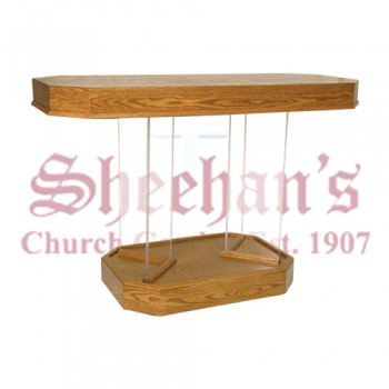 Communion Table with Wood Top and Base