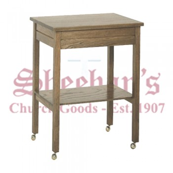 Credence Table with Solid Top and Frame