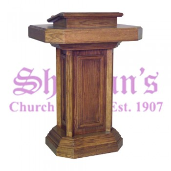 Pedestal Pulpit with Drawer