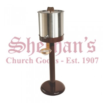 Holy Water Dispenser / Resevoir with Antique Brown Steel Base
