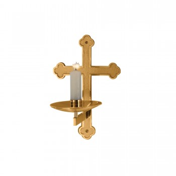 Consecration Candle Holder in High Polish Bronze