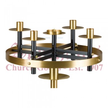 Advent Wreath with Black Base