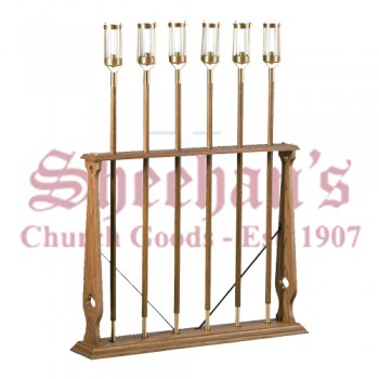 Six Shafts Processional Torch Stand