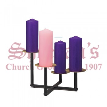 Advent Wreath with Square Base