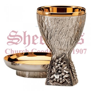 Grape and Wheat Motif Chalice and Bowl Paten