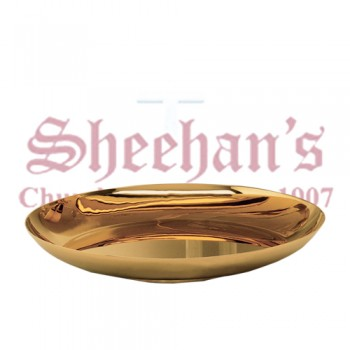 Gold Plated Large bread plate