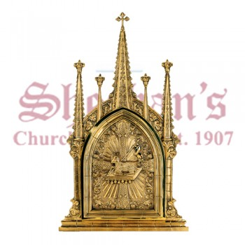 """"""" Gothic """" Brass Aumbry or Tabernacle"""