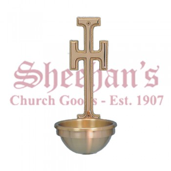 Holy Water Font - With Cross